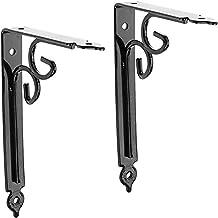 2 stks plank beugels, verdikte ijzer L-vormige decoratieve plankhouder rechte hoek beugels met gratis schroefaccessoires v...