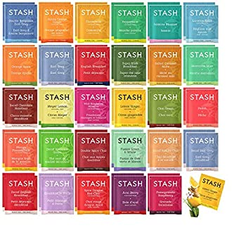 Stash Tea Bags Sampler Assortment Box - 52 COUNT - Perfect Variety Pack Gift Box - Gift for Family Friends Coworkers - English Breakfast Green Moroccan Mint Peach Chamomile and more