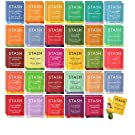 Stash Tea Bags Sampler Assortment Box - 52 COUNT - Perfect Variety Pack Gift Box - Gift for Family, Friends, Coworkers - English Breakfast, Green, Moroccan Mint, Peach, Chamomile and more