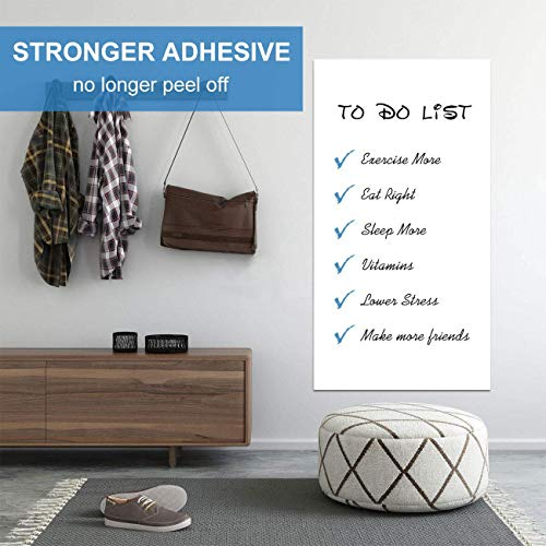 White Board Roll, 4' x3' Whiteboard Post Paper, 48 x 36 inches Dry Erase Contact Paper, AFMAT Whiteboard Sticker Paper Sheets, Stick on Dry Erase Board for Wall, Table, Doors, 3 Markers, No Ghost Photo #4