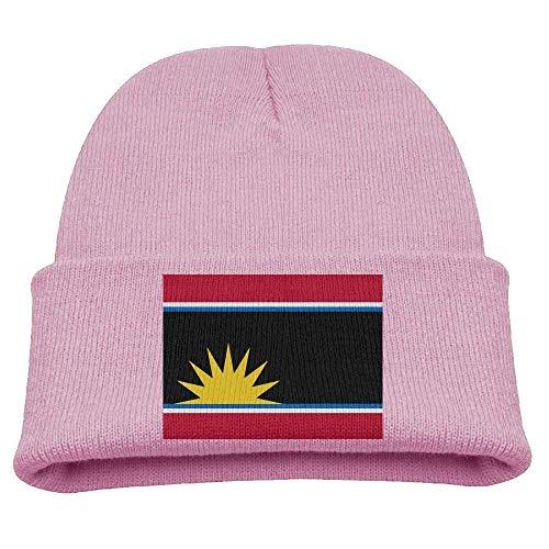 DearLord - Gorro de invierno para niños, diseño de bandera de Antigua y Barbuda, unisex, color rosa