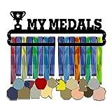 per Colgadores para Medallas Pared Metálicos Medalleros de Rieles Multifuncionales Estantes Murales de Hierro para Casa