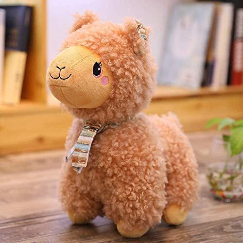 DEMIN Regenbogen Alpaca Teddy Spielzeug, weiche Teddy-Tiere Puppe Kissen, Puppe Kalbing Baby-Traum, Geburtstagsgeschenk, Geschenk für Kinder, 25 cm (orange)