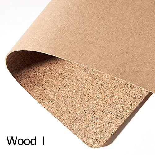 Umweltfreundliches Mauspad aus natürlichem Kork und Leder, doppelseitig, wasserfest, schmutzabweisend 120x60cm Holz I