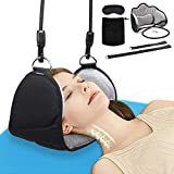 Upgraded Neck Head Hammock, TROPRO Cervical Traction Device for Neck Shoulder Pain Relief and Physical Therapy, Portable Neck Support Stretcher, Relaxation Sling with Eye Mask and Carry Pouch