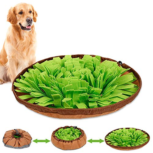 of portable pets dec 2021 theres one clear winner Snuffle Mat,Dog Feeding Mat with Soft Felt Material, Large Snuffle Mat for Dogs, Safe Interactive Dog Toys and Sniff Mat for Dogs, Machine Washable & Portable