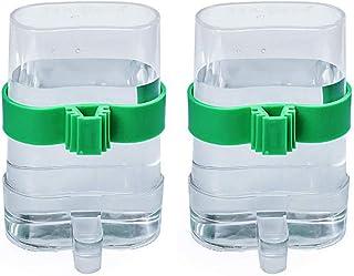Jixista 2pcs Comedero de pájaros automático Jaula dispensadora de Agua y alimento automático alimentador de pájaros alimen...