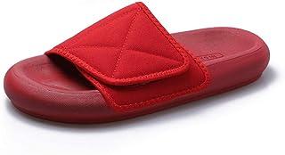 Claquette Homme Sandales Mules,Tongs mode d'extérieur, sandales anti-dérapantes à fond plat pour femmes-rouge_38,Sandales ...