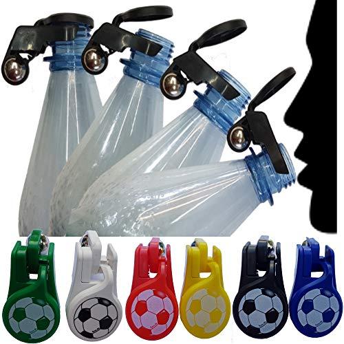 Automatischer Flaschenverschluss mit Euren Fußball Vereinsfarben als Insektenschutz für Wasser Cola Bier auch bei Gewindeflaschen bei Wein und Sekt (Set 6 Stück)