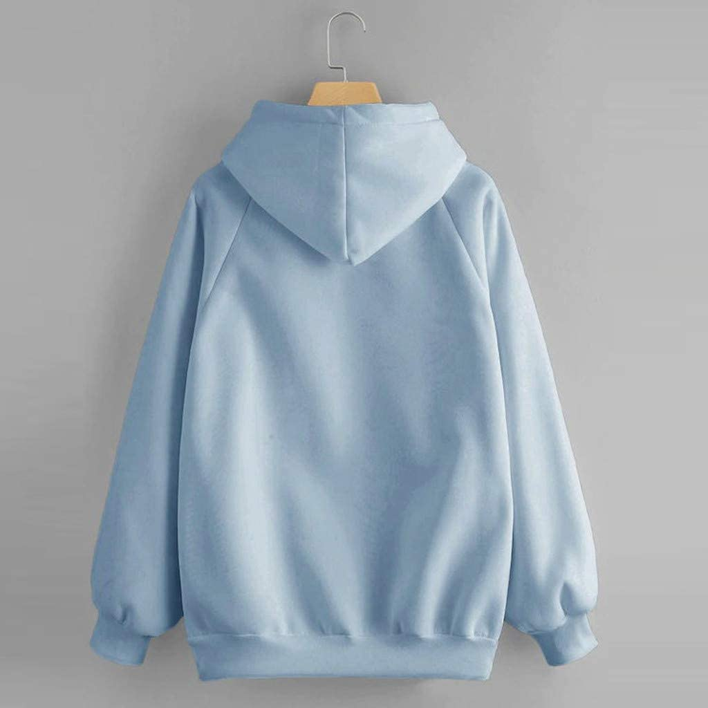 Quealent Hoodies for Women Women Print Hoodies Sweater Teen Girls Hooded Sweatshirt Pullover Jumper Outerwear Coat