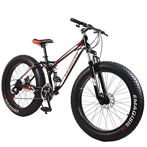 """CHHD Bicicleta de montaña Downhill MTB Bicicleta/Bicicleta Bicicleta de montaña, Marco de aleación de Aluminio 21 velocidades 26""""* 4.0 Neumático Grueso Bicicleta de montaña Bicicleta"""