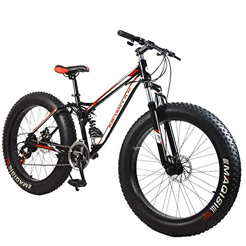 Mountain Bike Downhill Mtb Bicycle/Adult Bicycle, Aluminium Alloy Frame 21 Speed 26 Inch Fat Tire Mountain Bicycle, For Adults, Students Outdoor Riding