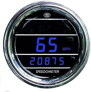 Speedometer Gauge for Any truck with MAG sensor - Bezel: Chrome - LED Color: Blue