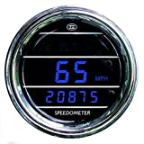 Teltek USA Speedometer Gauge for Any Truck with MAG Sensor - Bezel: Chrome - LED Color: Blue