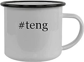 #teng - Stainless Steel Hashtag 12oz Camping Mug, Black