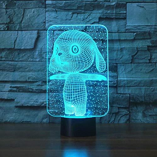 3D encantador conejo táctil lámpara de mesa 7 colores cambiantes lámpara de escritorio novedad led noche luces de la muerte estrella led luz gota nave