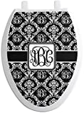 RNK Shops Monogrammed Damask Toilet Seat Decal - Elongated (Personalized)
