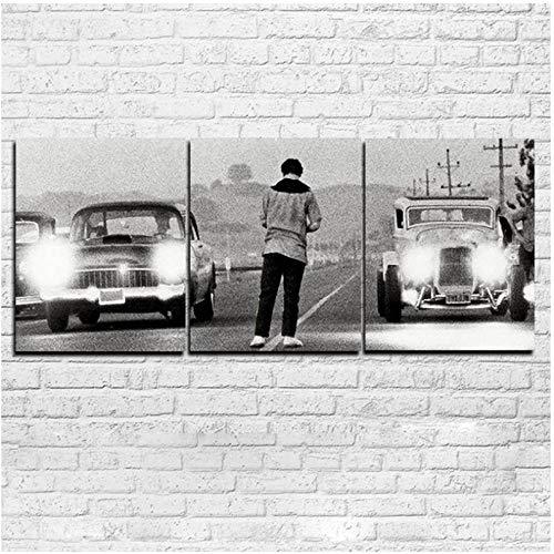 IGNIUBI Modern HD Impreso Pintura Lienzo Decoración para el hogar 3 Paneles Película Érase una Vez en América Poster Car Modular Pictures-60x80cmx3pcs (sin Marco)