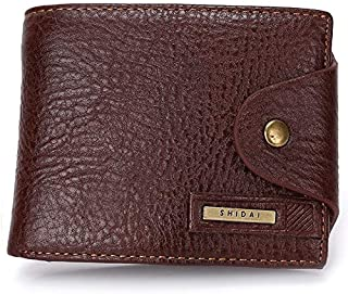 LDUNDUN-BAG, 2019 Short Men's Leather Wallet New Men's Wallet Card Package (Color : Brown, Size : S)