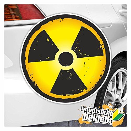 KIWISTAR Radioaktiv in 7 Größen erhältlich Aufkleber mehrfarbig Sticker Funsticker colored
