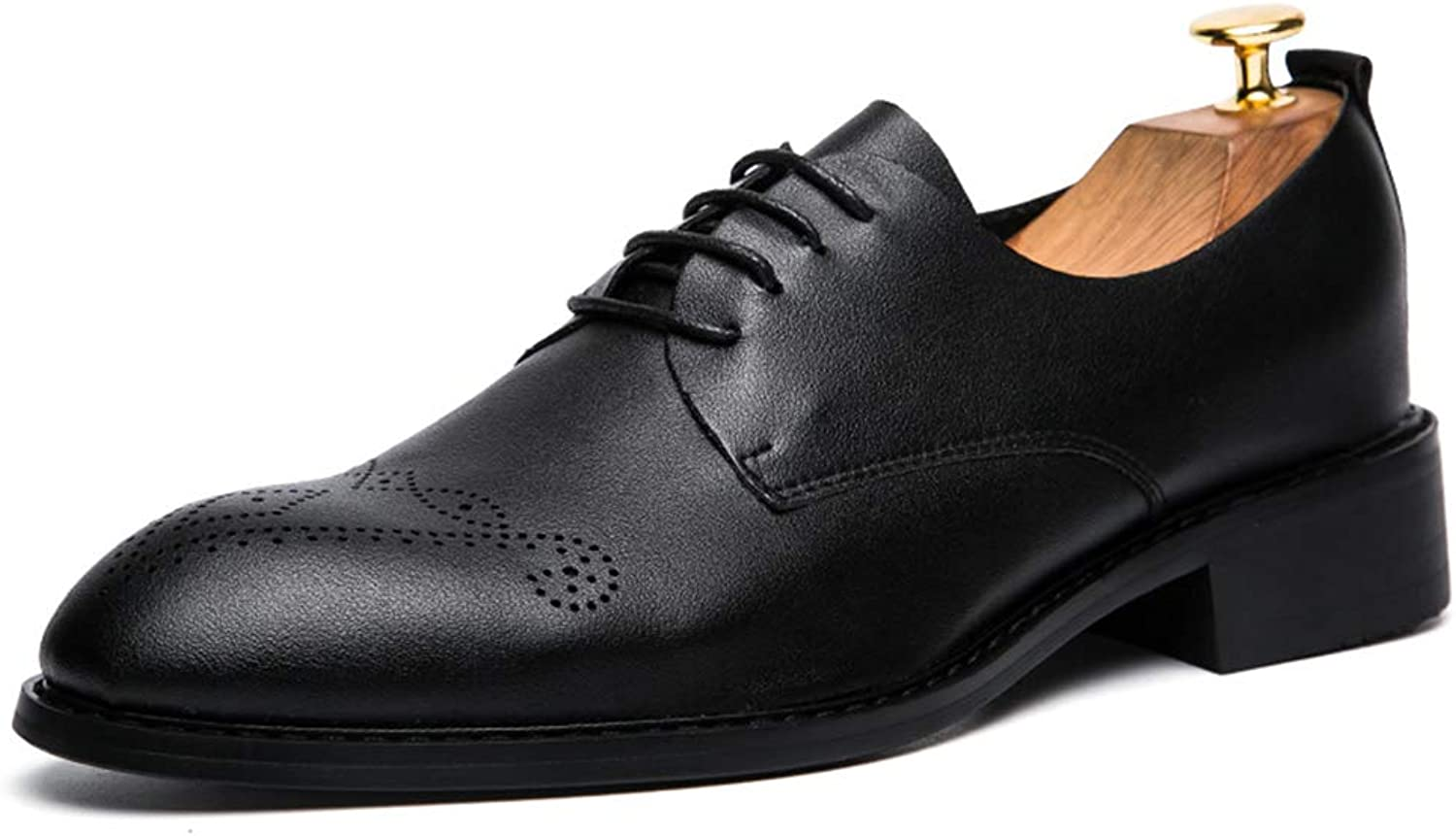 CHENXD shoes, Men's Simple British Style Business Oxford Casual Soft Leather Carving Brogue shoes
