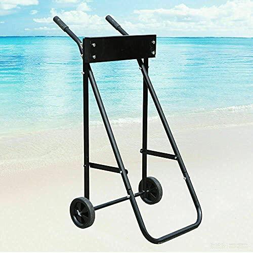SHIOUCY Carrello per il trasporto per motore esterno bordo, Engine trolley, con supporto per motore esterno fino a 70 kg