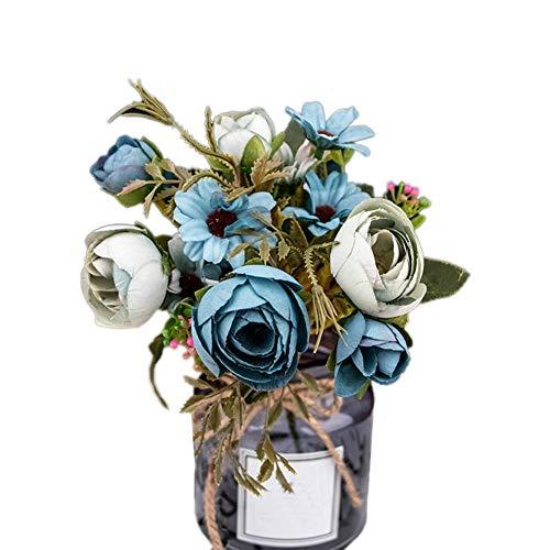 lamta1k Rama Decoraci¨®n de Flores Artificiales Toque Real para Interior Oficina Exterior en el hogar Colores...