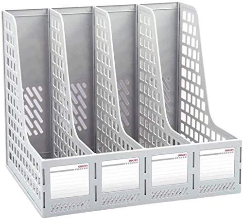 TIANYOU Organización Y Alenamiento de Alenamiento de Alenamiento Sturdy Desktop 4 Secciones Protustradores Propiedades de Revistantes de Plásticos Ms de Los Dividores de Archivo Documento Mej