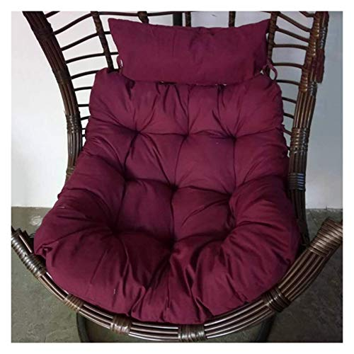 ZHZH Outdoor/Indoor Furniture Chair Cushion Hanging Egg Hammock Chair Cushion with Pillow, Thicken Swing Hanging Basket Seat Cushion Without Stand, Egg Nest Chair Cushion Seat Pad