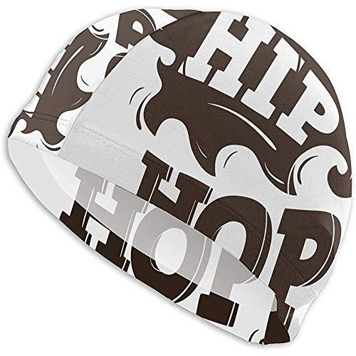 Elxf Cuffia da Nuoto Hip-Hop con Design a Palloncino Spray Cuffia da Nuoto Lady Cuffia da Nuoto, Cuffia da Nuoto per Adulti per Adolescenti