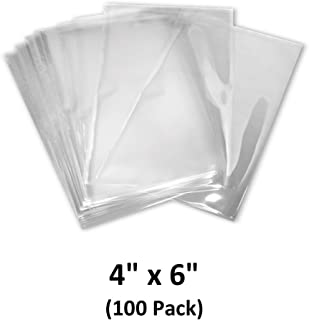4x6 inch Odorless, Clear, 100 Guage, PVC Heat Shrink Wrap Bags for Gifts, Packagaing, Homemade DIY Projects, Bath Bombs, Soaps, and Other Merchandise (100 Pack)   MagicWater Supply