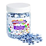 Colorations Wiggly Googly Eyes, Best-Seller, Value Pack with Storage, Regular, Black & White, Arts & Crafts, for Kids, Model Number: EYEJAR