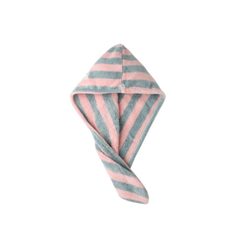 可動式マイクロプロセッサ子羊XIONGHAIZI シャワーキャップ、ドライヘアキャップ、女性用吸収性ヘアドライヤー、タオル、ドライシャワーキャップ、女性用バッグヘアキャップ、高品質 (Color : Blue stripes)