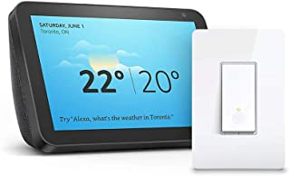 Echo Show 8 (Charcoal) with TP-Link Light Switch