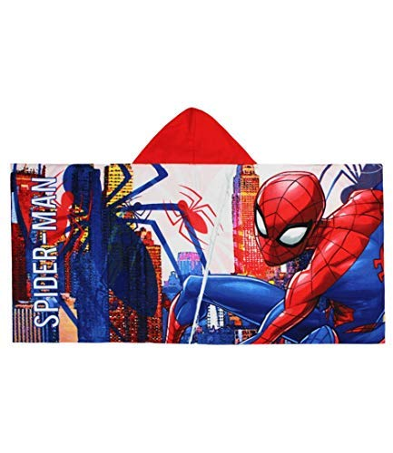 Marvel Spiderman Serviette à capuche pour enfant Rouge