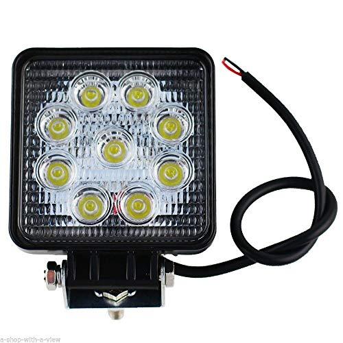 Foco 27 W cuadrado foco LED de trabajo 9 led de profundidad coche Barco