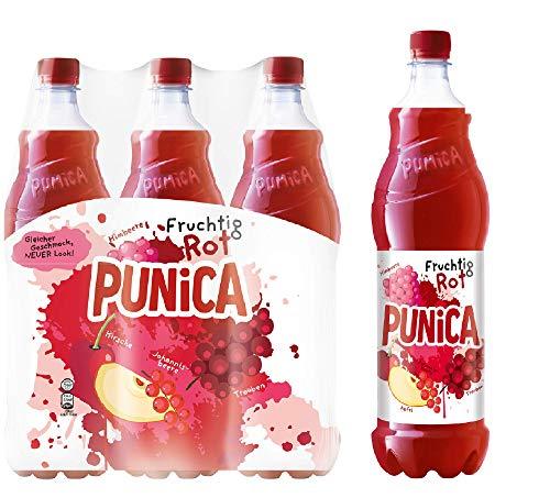 Punica Classic Fruchtig Rot – Fruchtig frisches Mehrfruchtsaftgetränk – 6 x 1,25l Flasche