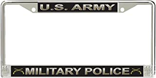 JR Studio US Army Military Police Corps Military Veteran Stainless Steel Car Truck License Plate Frame Car Tag Holder