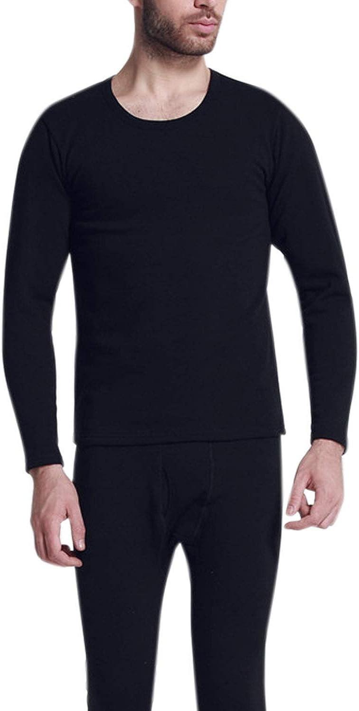 Katesid Men's Thermal Underwear Long John Set Fleece Lined Base Layer Top and Bottom