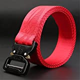 BT.CE Men 'S Belt Cinturon De Nylon Juventud Tácticas del Ejército Multifuncional Fan Outdoor Training Belt Dragon Rojo,115000.
