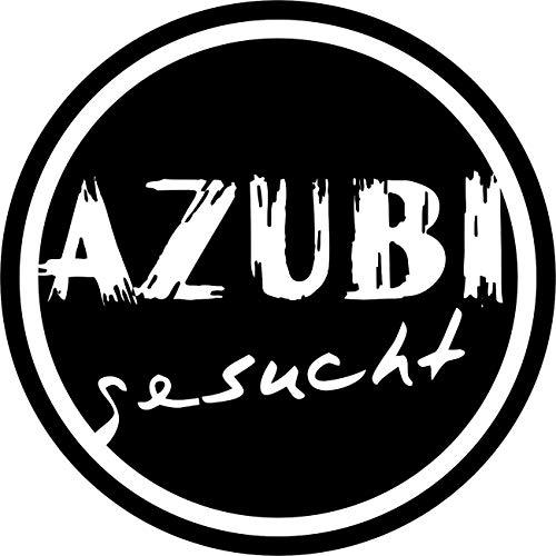 Wandtattoo – 'AZUBI gesucht' – Beruf, Ausbildung, Karriere, Jobsuche, Lehrstelle // Farb- und Größenwahl (Dunkelblau - 300 mm x 300 mm)