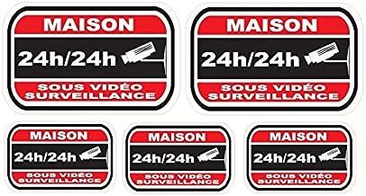 Sticker dissuasifs pour alarme et video surveillance - Maison