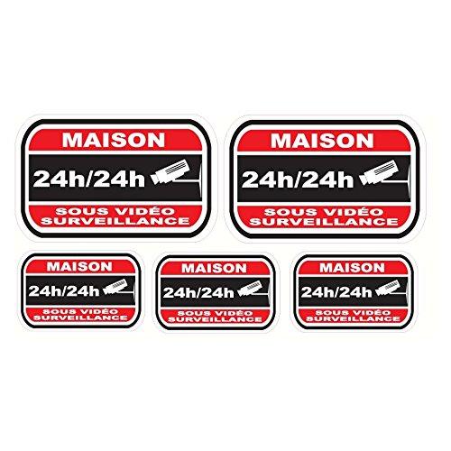 Pegatinas disuasivas para alarma y cámaras de seguridad del hogar