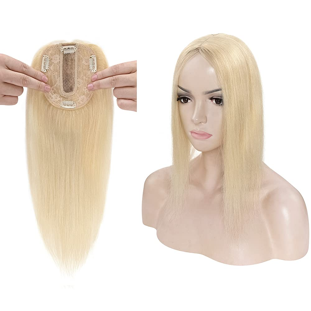 Clip in Topper for Women 130% Directly managed store Base Human Silk Density Remy Hair Latest item