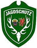 Waidmannsbruecke Erwachsene Jagdschutz Mecklenburg-Vorpommern Autoschild, Grün, One Size