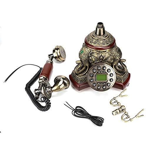 Retro Schnurgebundenes Festnetz, antikes, nachgebautes Kabel-Telefon für Privatanwender/Hotel/Unternehmen, Festnetz mit großen Tasten, Kabeltelefon, für FSK/DTMF, ohne DASS eine Speicherkarte er