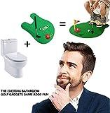 funnygift Giocattolo da Golf per Toilette, Set di vasini da vaschetta Gioco da Bagno Set di novità, Giocare a Golf sul Water