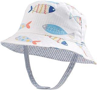 XIAOHAWANGベビー 帽子 サンハット 男の子 サファリハット リバーシブルハット 赤ちゃん 日よけ帽子 つば広 かわいい 動物柄 男の子 春 夏 水遊び