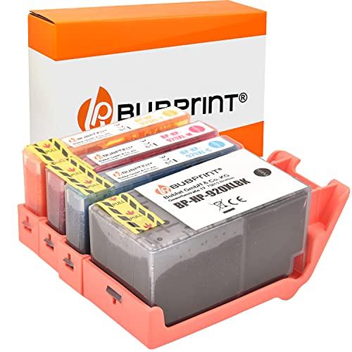4 Bubprint Cartuchos de Tinta Compatible para HP 920 XL 920XL para OfficeJet 6000 6500 6500A Plus 7000 Special Edition 7500A Wireless Negro Cian Magenta Amarillo Multipack