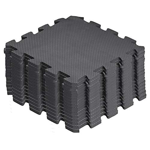 arteesol Schutzmatten Set - 18 Puzzlematten je 30x30x1cm,Premium Bodenschutzmatten Unterlegmatten Fitnessmatten für Sport Fitnessraum Fitnessgeräte Fitness Pool (Matten-Gray-moon)